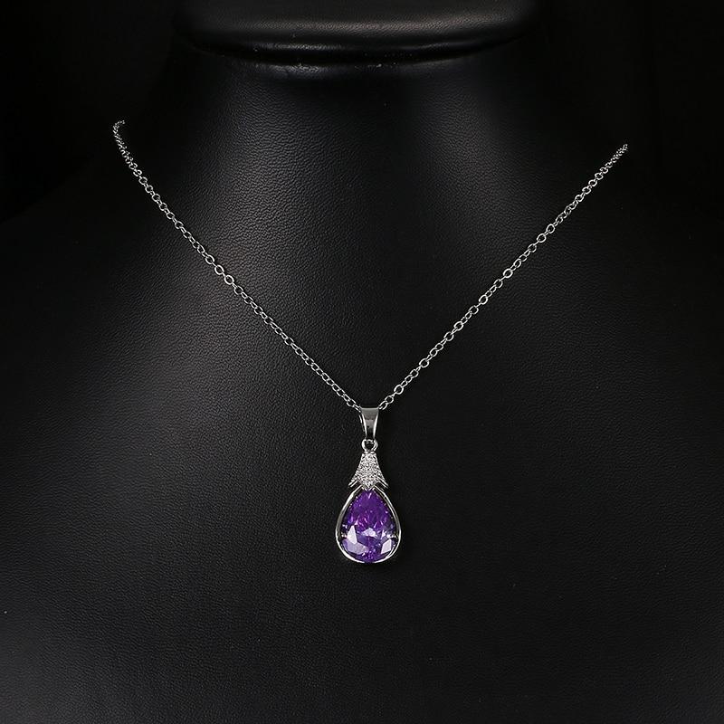 Emmaya Fashion Cheap Purple Purple Crystal Վզնոցներ և - Նորաձև զարդեր - Լուսանկար 2