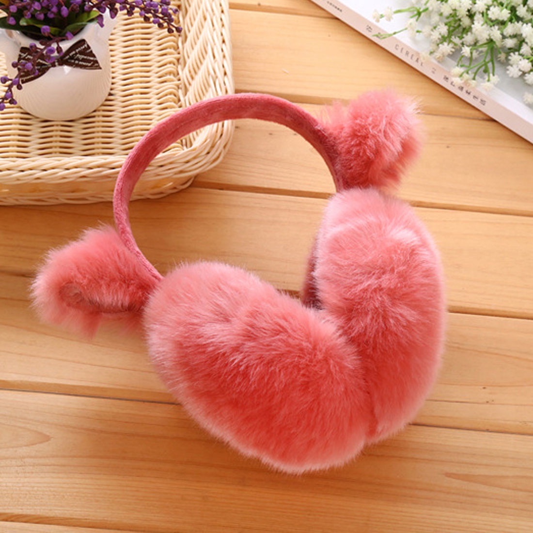 2017 Comfortable Winter Soft Rabbit Earmuffs For Women Warm Fur Ear Cover Winter Warm Ear Warmers Gifts For Girls Female