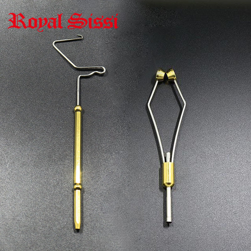 Royal Sissi 2pcs economic Fly tying tools set rotary whip finisher built-in half hitch&Ceramic Tip fly tying Bobbin Holder combo wifreo 11cm 1 stainless micro tip fly tying scissors sharp
