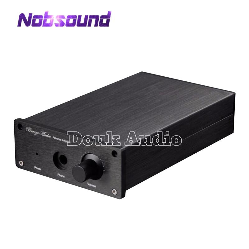 Nobsound Mini Aluminum Case Amplifier Chassis Black Enclosure DIY Box Cabinet
