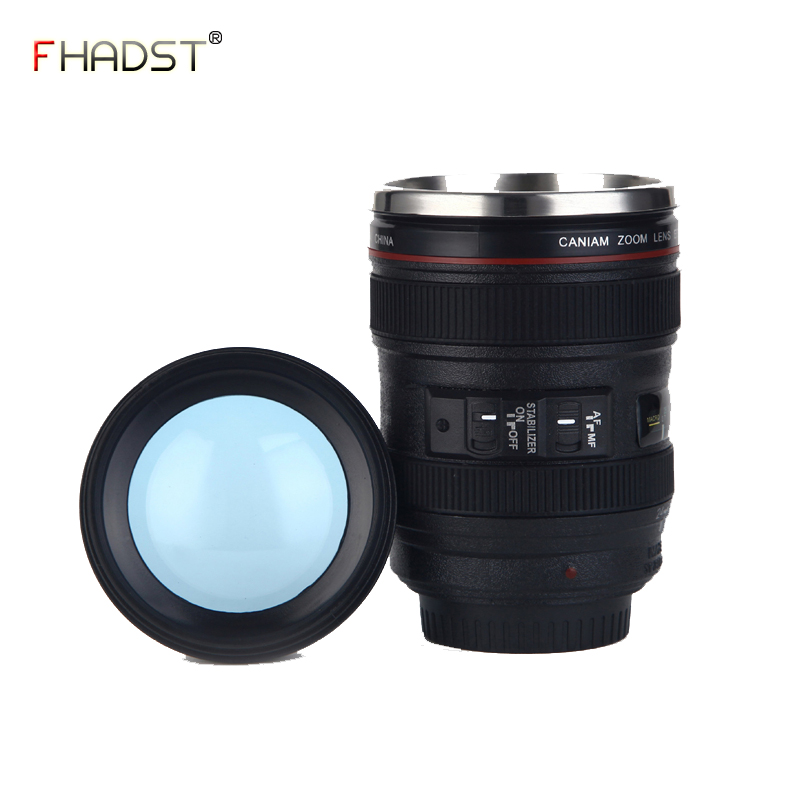 400ML Upgraded Version Creative Camera Lens Shape Cup Coffee Tea Travel Mug Stainless Steel Vacuum Flasks Stylish Thermocup Gift