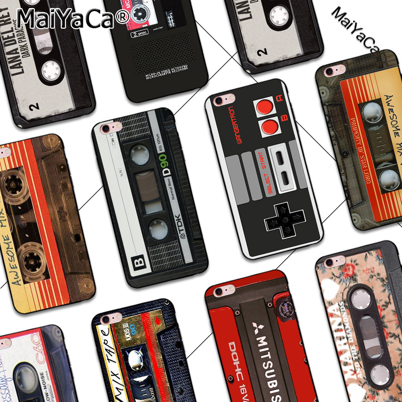 MaiYaCa Siliconen Telefoon Case Voor iPhone 5s 6s 6splus7 8 plus 11pro max case mixtape vintage Magnetische tape Cassette audio tape cover voor iphone x xs max xr 11pro coque