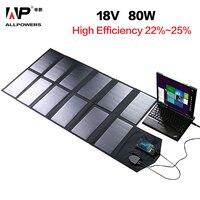 ALLPOWERS солнечная панель 80 Вт солнечная батарея зарядное устройство для iPhone Sumsung телефоны lenovo HP Dell Acer ноутбуки 12 в автомобильный аккумулятор и