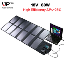ALLPOWERS Solar Panel 80W Solar Battery Charger for iPhone Sumsung Phones Lenovo HP Dell Acer Laptops
