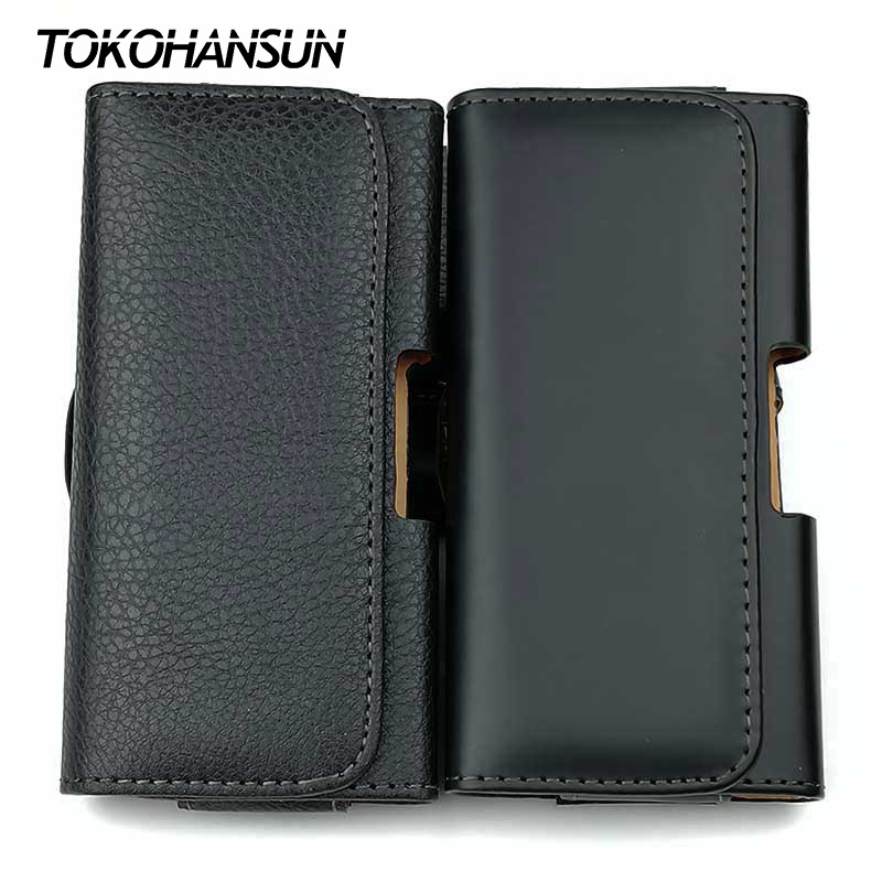Kogngu Case for Xiaomi Mi 6X PU Leather Phone Belt Bag Men Mobile Holder Case fo