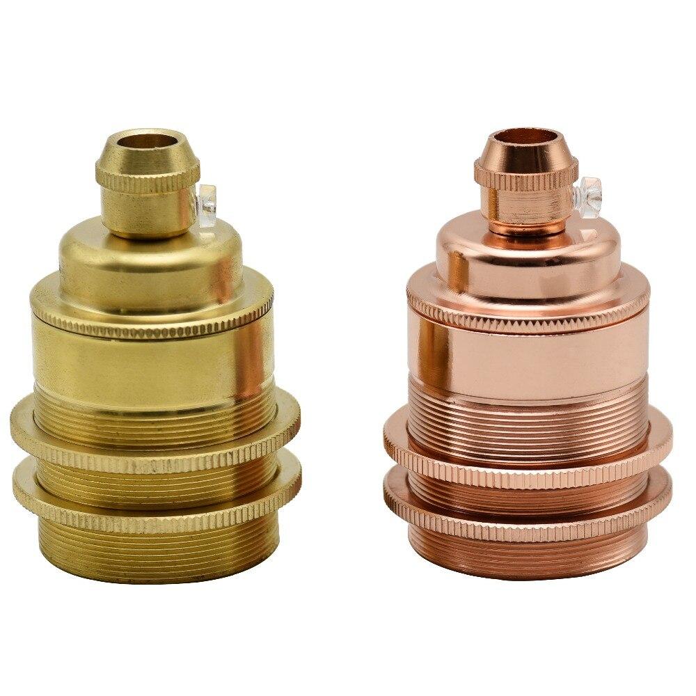 E27 UL Messing Lamphouder Aardewerk En Porselein Schroef Bulb Socket Vintage Keramische Core Hanglamp Bases Zelfborgende