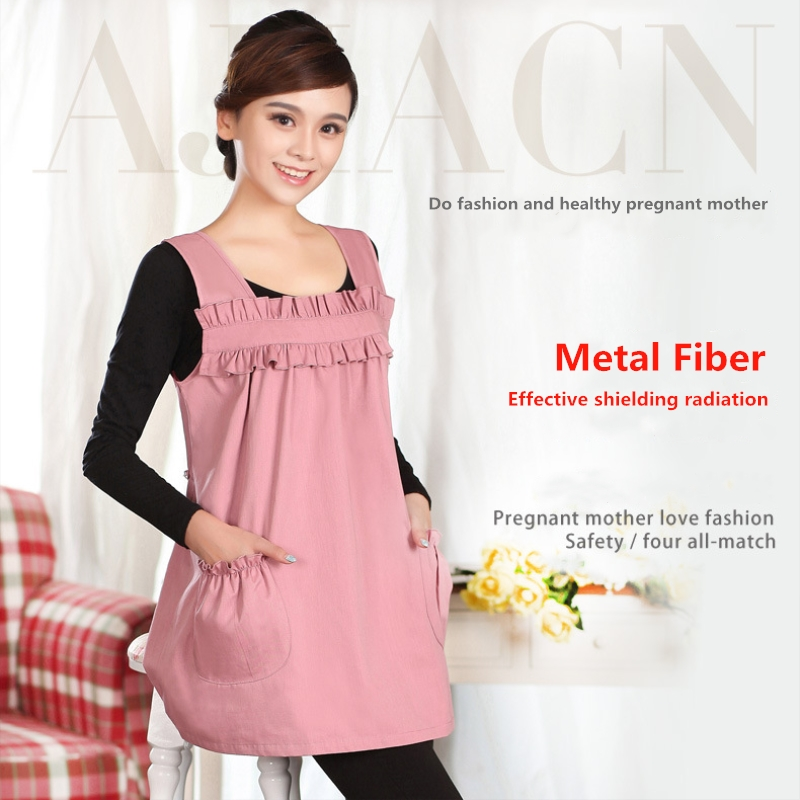 420fcf7dac992 Protect pregnant woman health electromagnetic radiation protective dress  electronic products EMF shielding metal fiber clothing