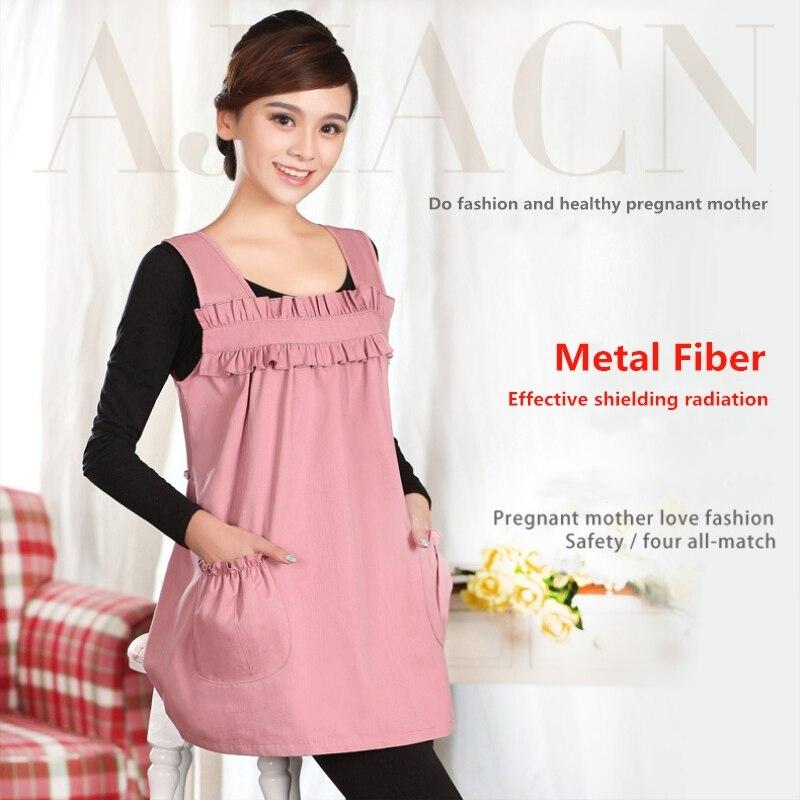 c502e3e71 Proteger la mujer embarazada de la salud de la radiación electromagnética  de protección vestido productos electrónicos EMF blindaje de fibra de metal  ropa ...
