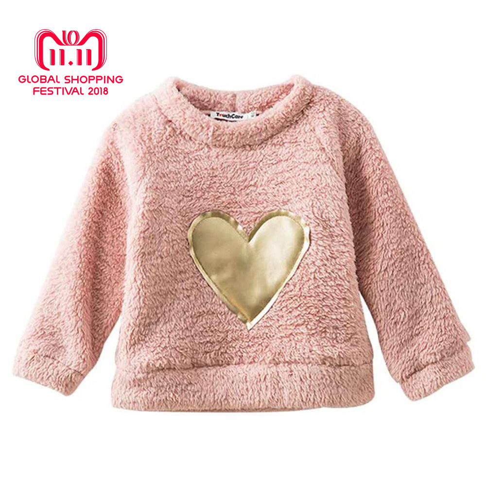 цены на Thick Fleece Long Sleeve T-shirt Cartoon Bear Embroidery Coat Children Baby Sweaters Clothes Kid Boys Girls Warm Pullover Blouse в интернет-магазинах