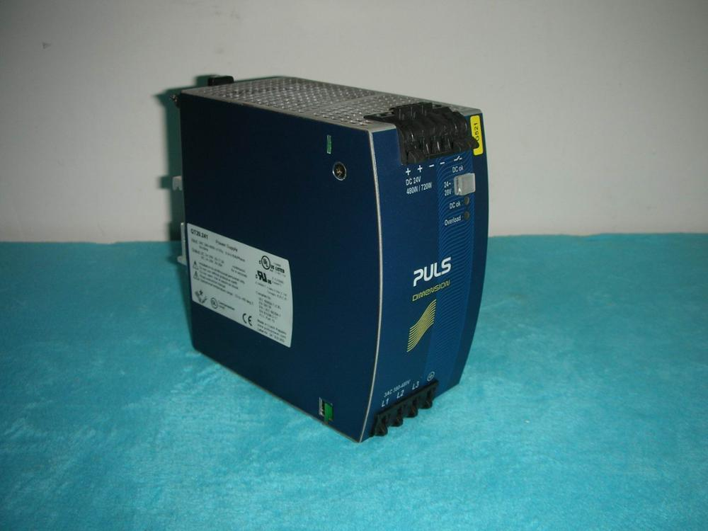 1PC USED 20A 480/720W 24V PULS power three phase QT20.241.20 3P Czech original imports1PC USED 20A 480/720W 24V PULS power three phase QT20.241.20 3P Czech original imports