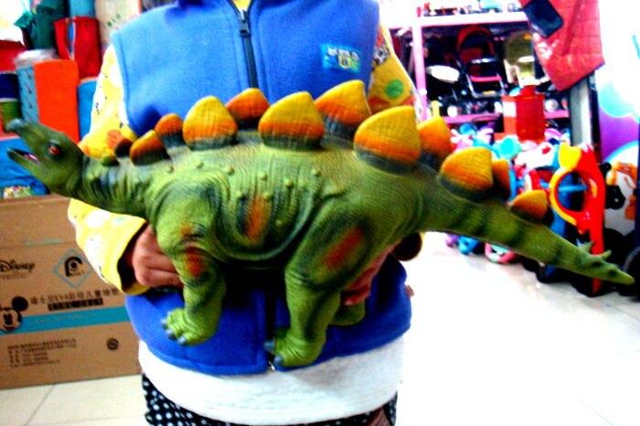 Modèle de dinosaure Simulation douce 60 cm figurines d'action stegosaure Collection de jouets créatures anciennes jouets pour enfants