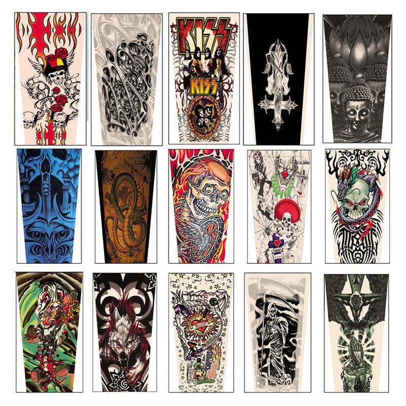 1 Para Temporäre Fake-slip Tattoo Arm Ärmel Körper Kunst Arm Bein Strümpfe Reich Und PräChtig