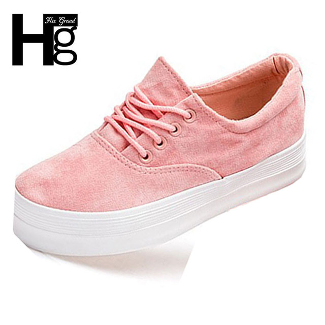 HEE GRAND Fashion Women's Shoes 2017 New Korean Student Casual Platform Shoe For Woman Size 35-40 XWD4156