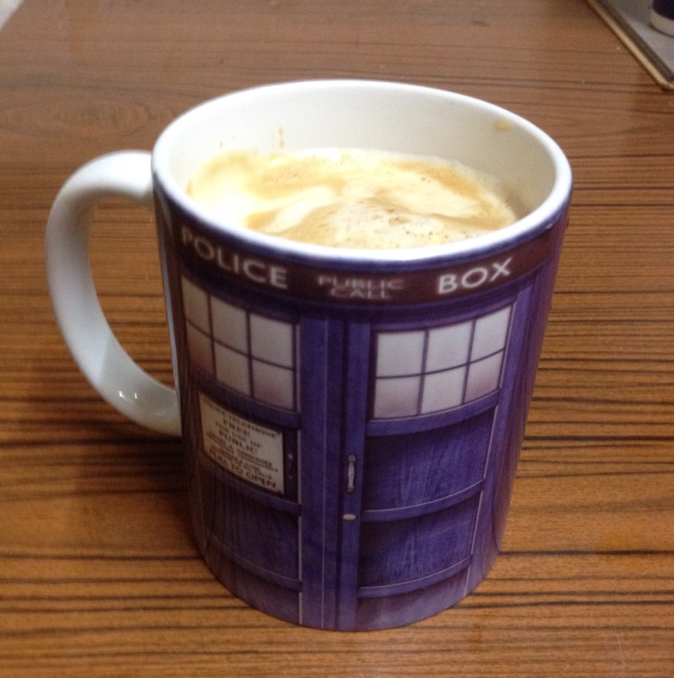 Doctor who mugs police box dr who mug tardis porcelain for Best coffee mugs for home