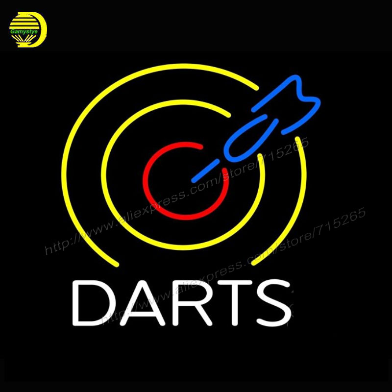 Neon Sign Dart Board Business Neon Publicidad Arcade Store Display Neon Bulbs
