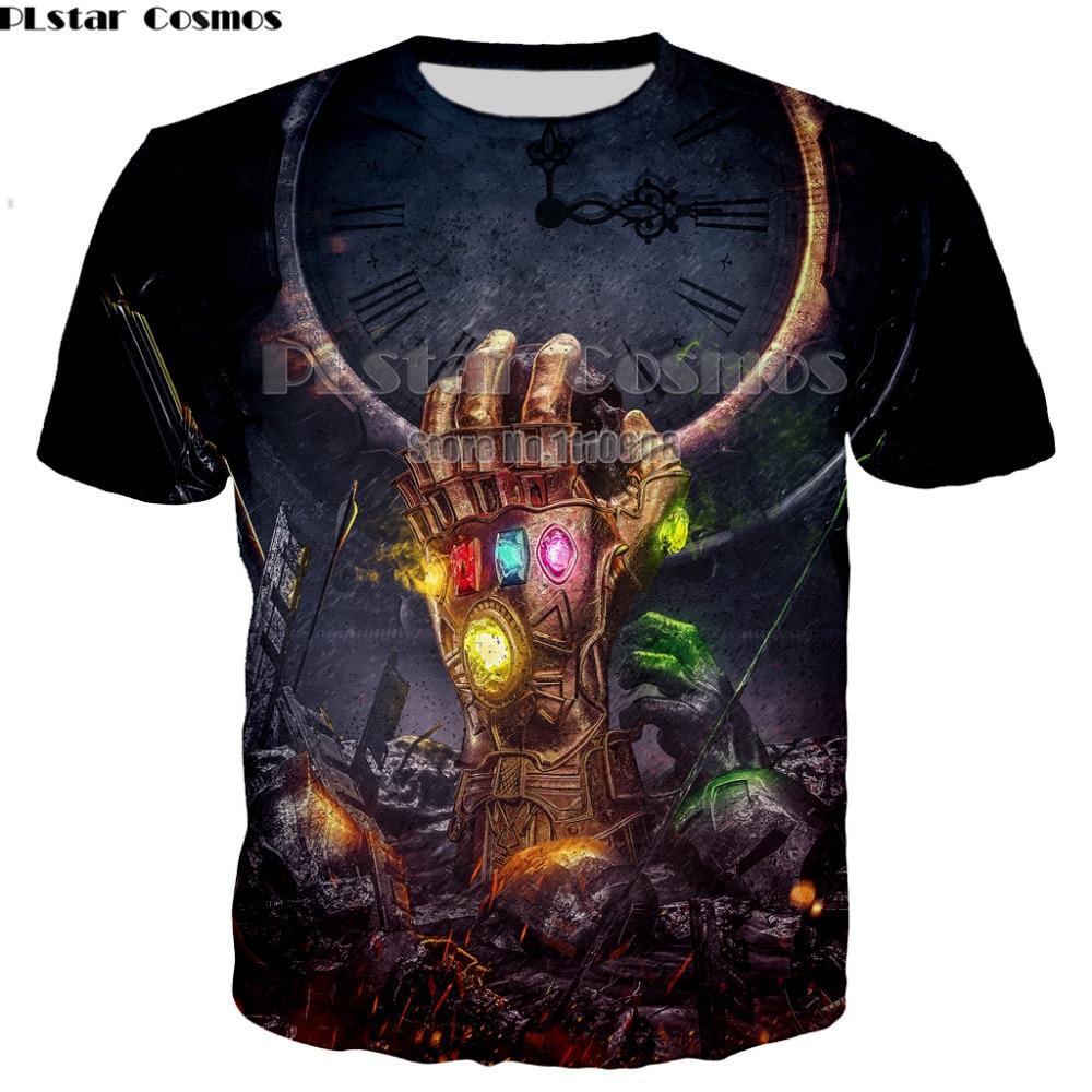 Newest Harajuku Summer   T     shirt   Men/Women 3D Print Avengers Infinity War Superhero Thanos tee short sleeve clothes XS-7XL
