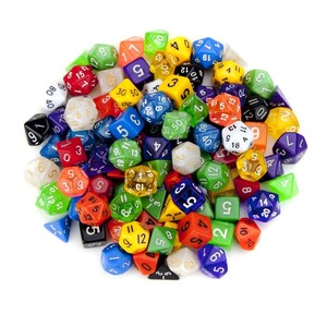 7Pcs/lot Dice Set Polyhedral Dnd Dice for RPG Board Games D4 D6 D8 D10 D% D12 D20 Dice Game Tower 10 Sided(China)