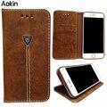 Aokin Телефон Case Для iphone 5s 6 6 s plus Vintage Кошелек PU Кожаный Телефон Случаях для Samsung Case Luxury Обложка для iPhone
