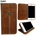 Aokin Phone Case For iphone 5s 6 6s plus Vintage Wallet PU Leather Phone Cases for Samsung Case Luxury Cover for iPhone