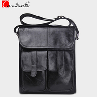 CONTACT S New Arrival Genuine Leather Men Bags Fashion Briefcase Handbags Male Crossbody Bags Men Messenger