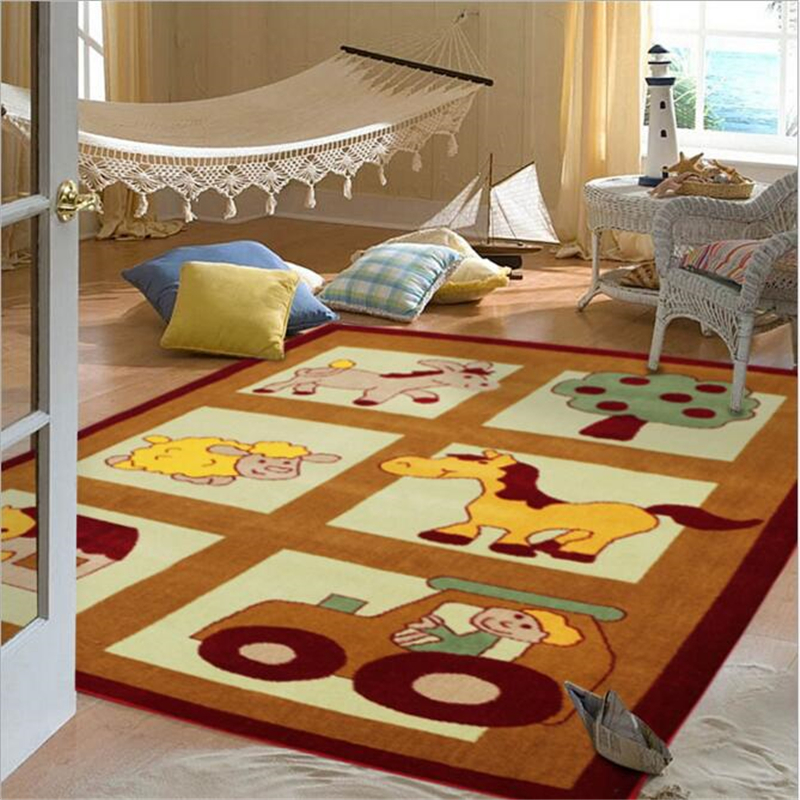 160X230cm Creative Cartoon Delicate Wool Large Carpet For Living Room Bedroom Kid Room Rug Home Floor Fashion Door Children Mat