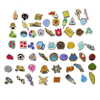 Set of 58 Game pokemon : Kanto Gym Badges pokemon go Metal Pins brooch jewelry set Collection pikachu gift