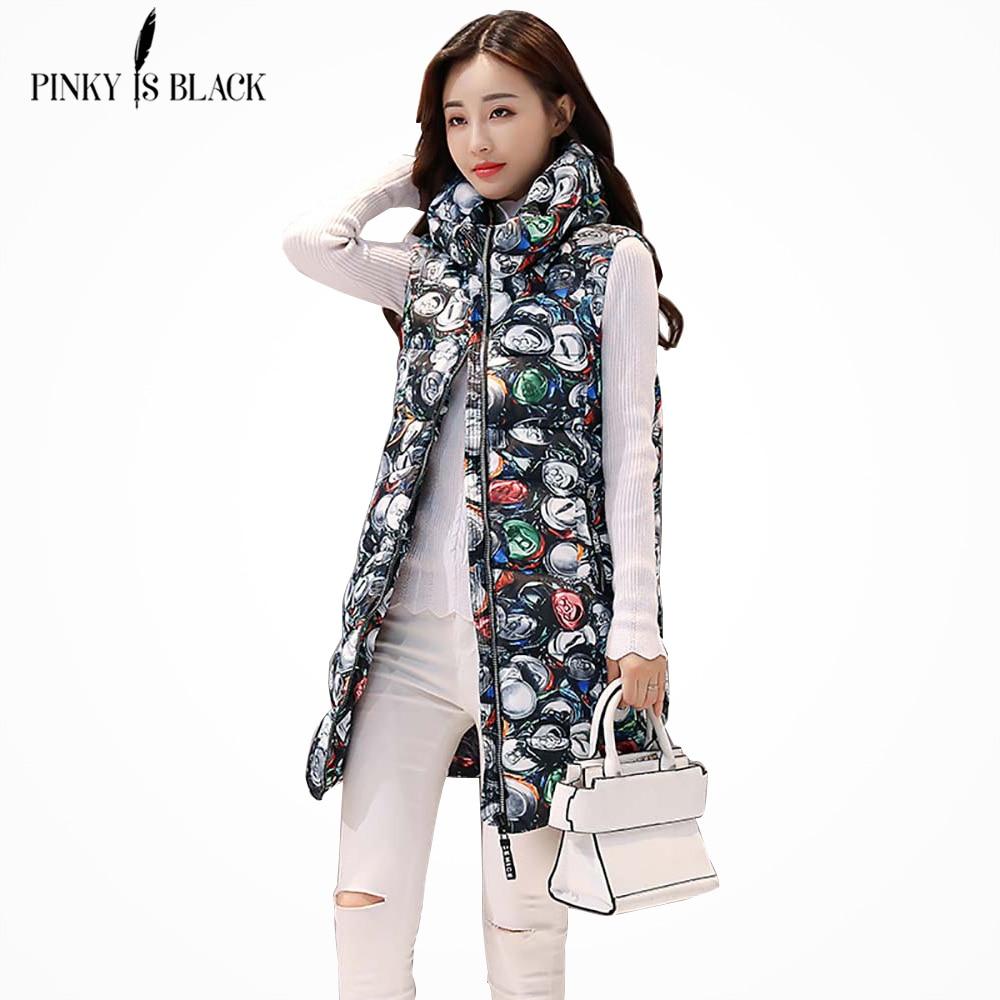 36c3777a01e Goede Kopen PinkyIsBlack Herfst Winter Vrouwen Vest 2018 Nieuwe Mode Print Lange  Dames Vest Coat Thicken Hooded Warm Winter Vrouwen Vest Goedkoop