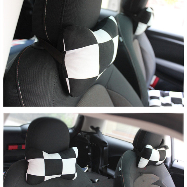 1pc Checkered pillow for mini cooper R56 interior accessories