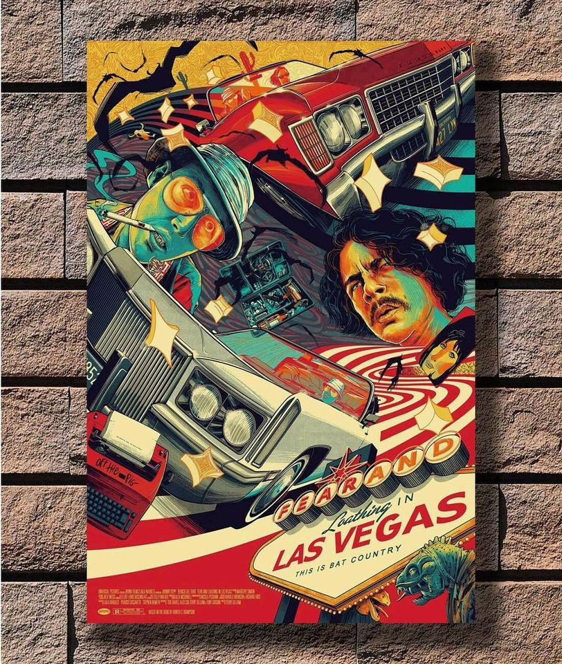 FEAR AND LOATHING CLASSIC CULT FIM MOVIE POSTER ART PRINT A3 SIZE GZ2225