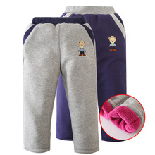 2016 New Arrival 2-8Y Plus velvet thickening Winter Boys and girls Pants girl legging boy Pants Winter Warm Pants P02