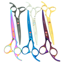 Meisha 7 inch Japan 440c Pet Curved Cutting Scissors Grooming Tools Animal Hair Shears Clippers for Haircut Dogs HB0087 meisha 7 inch professional pet dog grooming styling scissors japan 440c cutting thinning curved shears for haircut hb0054