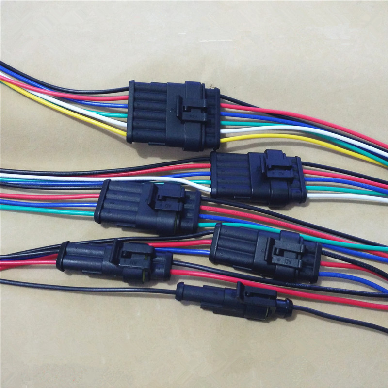 1pcs Yt979 Automotive Wiring Harness Plug Waterproof Connector Assembly And Socket With 1020cm: Automotive 3 Wire Wiring Harness At Jornalmilenio.com
