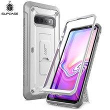 SUPCASE UB Pro Samsung Galaxy S10 Durumda 6.1 inç Tam Vücut Sağlam Kılıf Kickstand Kılıf OLMADAN Dahili Ekran koruyucu