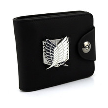 Attack on Titan Leathe Wallet with Metal Logo