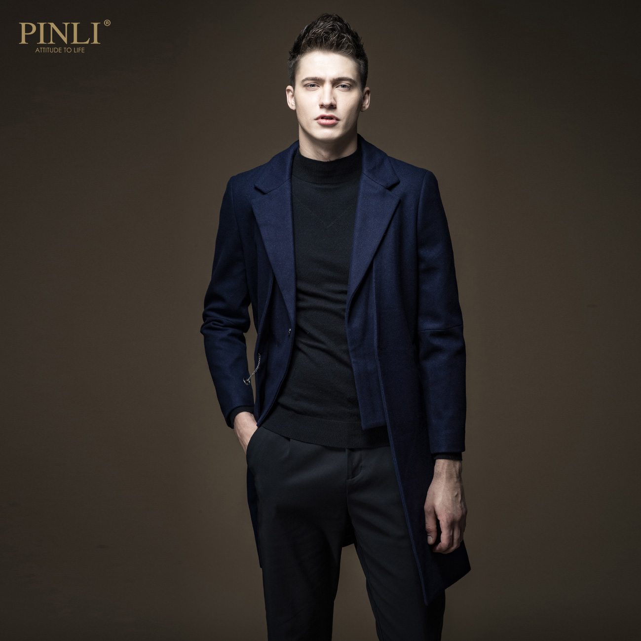 2019 Half Sobretudo Masculino Sobretudo Masculino Pinli Presents A New Winter Man's Lapel Collar, Long Wool Coat And B164202150
