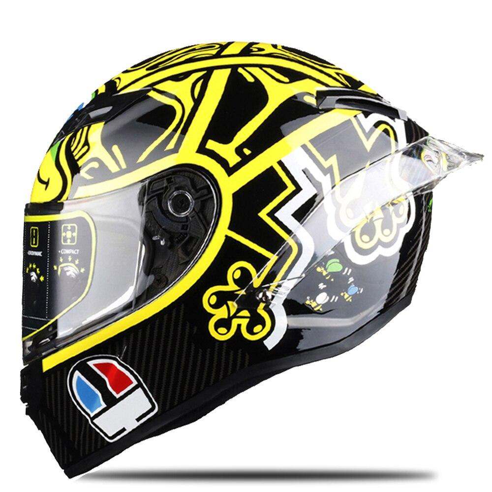 Tortuga Casco de carreras de la cara llena de la motocicleta del Casco de la aprobada por el DOT Motocross cuesta abajo gira Motociclista Casco párr Moto Capacete