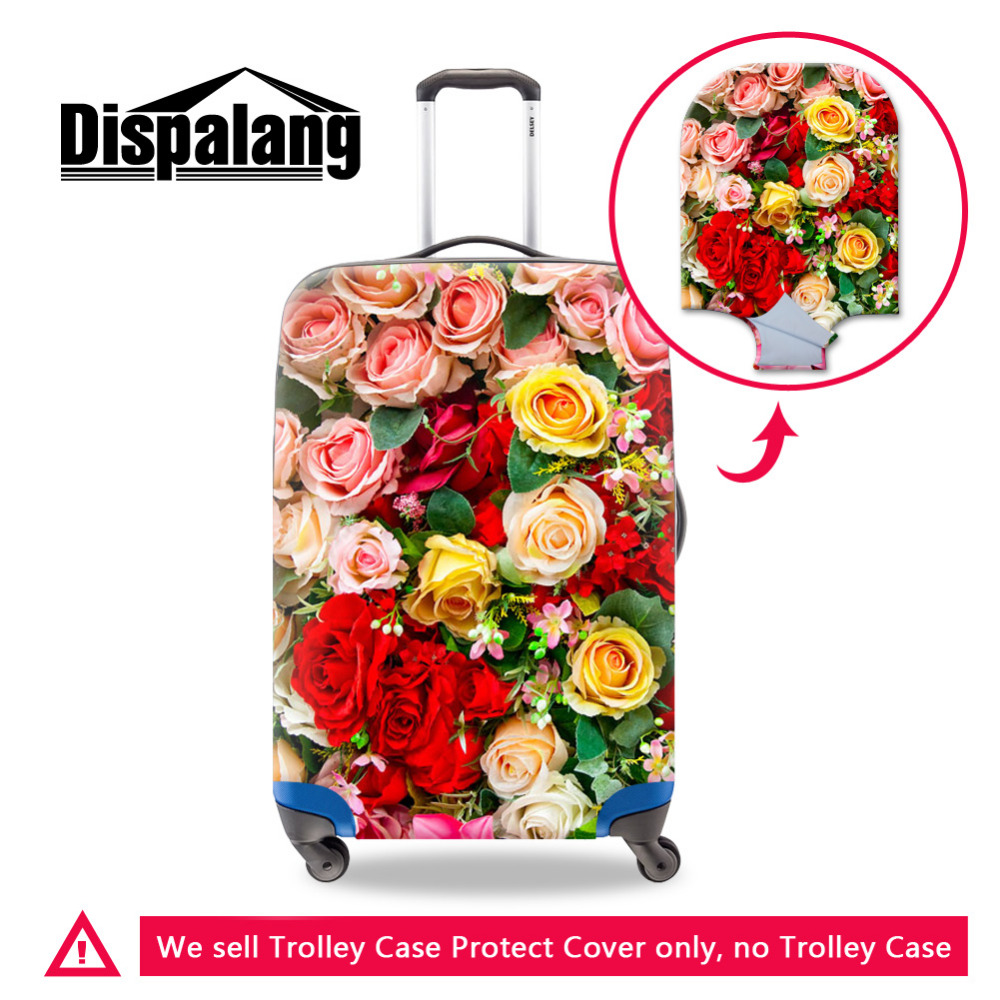 Dispalang Travel Luggage Protective Covers Flower Suitcase Cover Elastic Dustproof Cover For 18-30 Inch Case Travel Accessoties