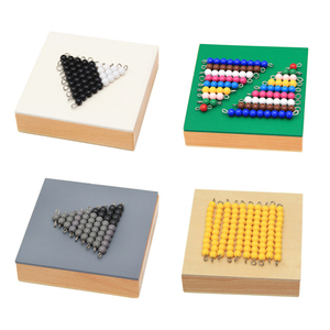 Image 2 - Juguetes matemáticos de Material Montessori de alta calidad, juego de serpiente de resta, 12x12x8CM, caja de madera, cuentas coloridas de plástico, juguetes de matemáticas