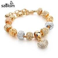Szelam luxury crystal heart charm bracelets bangles gold bracelets for women jewellery pulseira feminina sbr160056.jpg 200x200