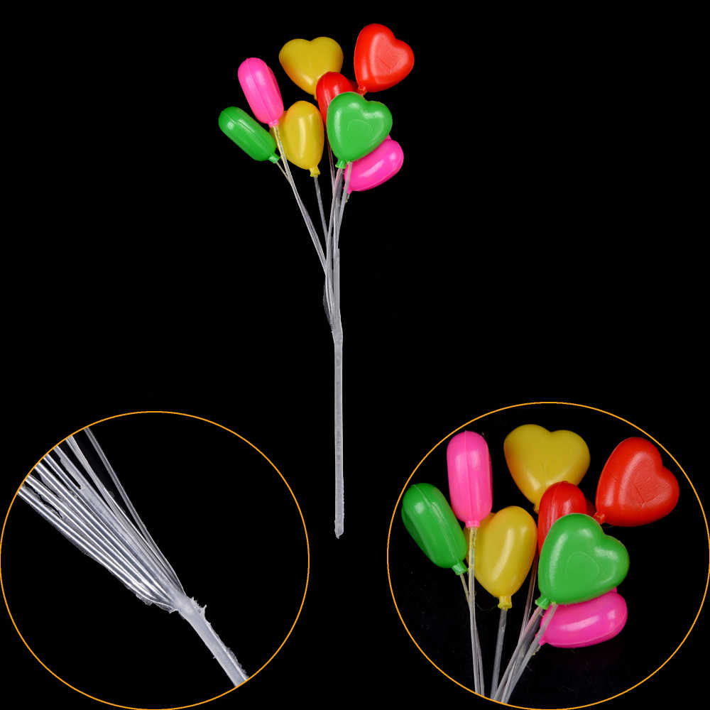 cute Mini Heart-Shaped Balloon Garden Ornament Fairy Dollhouse Miniature Decor Gift