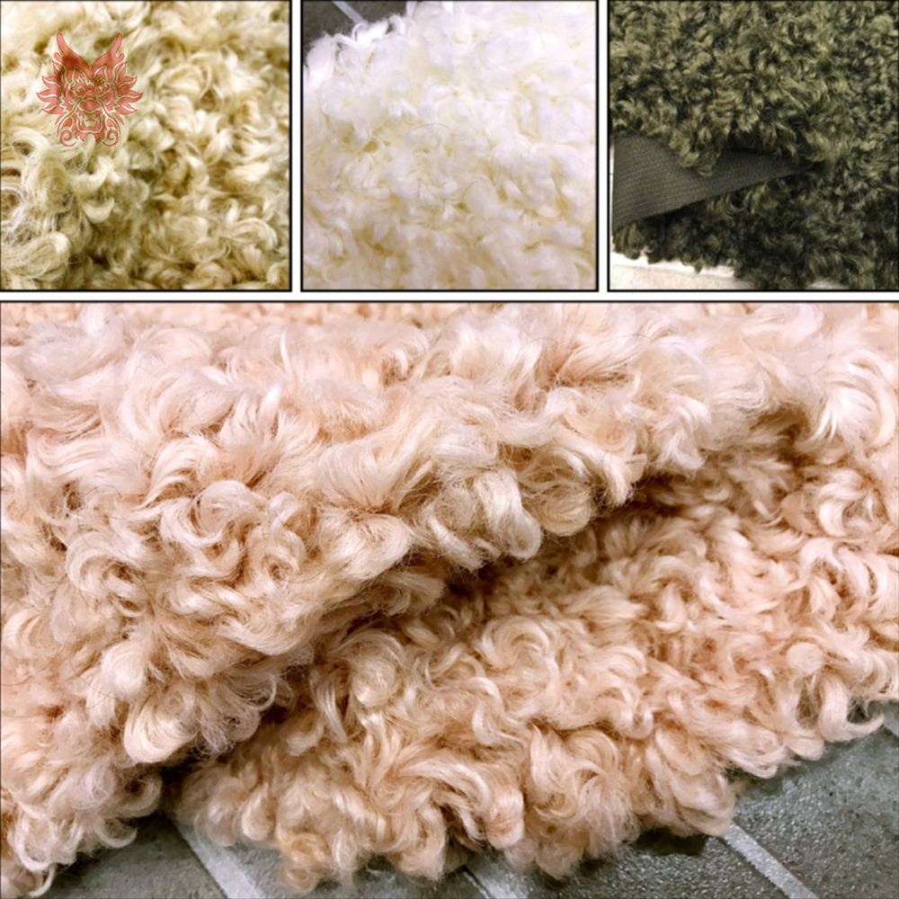 Multi color solid luxury fluffy faux curled wool fur fabric tissue photographic newborn cloth shoes accessories