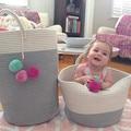 Корзина для белья в скандинавском стиле  тканая корзина для хранения  органайзер для игрушек и одежды  корзина для хранения  корзина для бел...