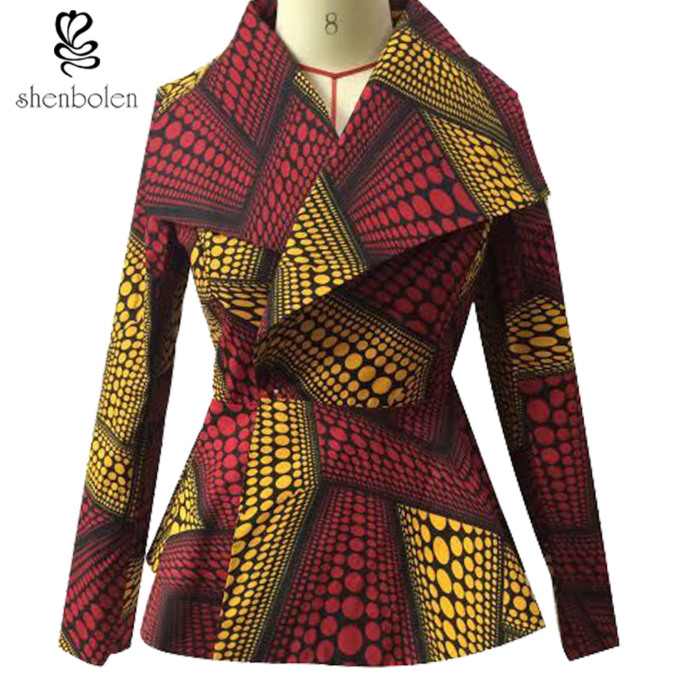 Africa Style Pattern Lady Coat Women Traditional Classic