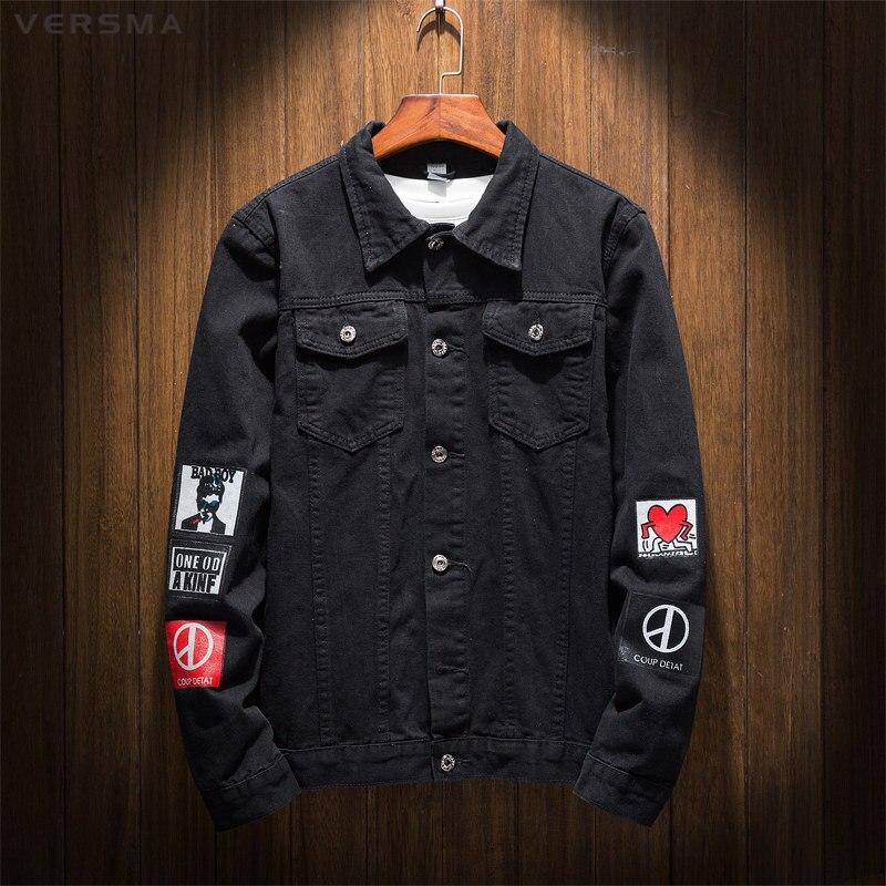 VERSMA Mode Harajuku g-dragon Ein von Einer Art Jeansjacke für jungen Herren Bad Boy Hemd Jeans Männer Kleidung Jeanshemd Jungen 5XL
