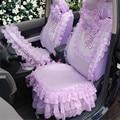 2016 mulheres da moda moda plum blossoms lace tampas de assento do carro New Car Styling 5 Tampa De Assento + 9 PCS Pequeno Decorativo acessórios