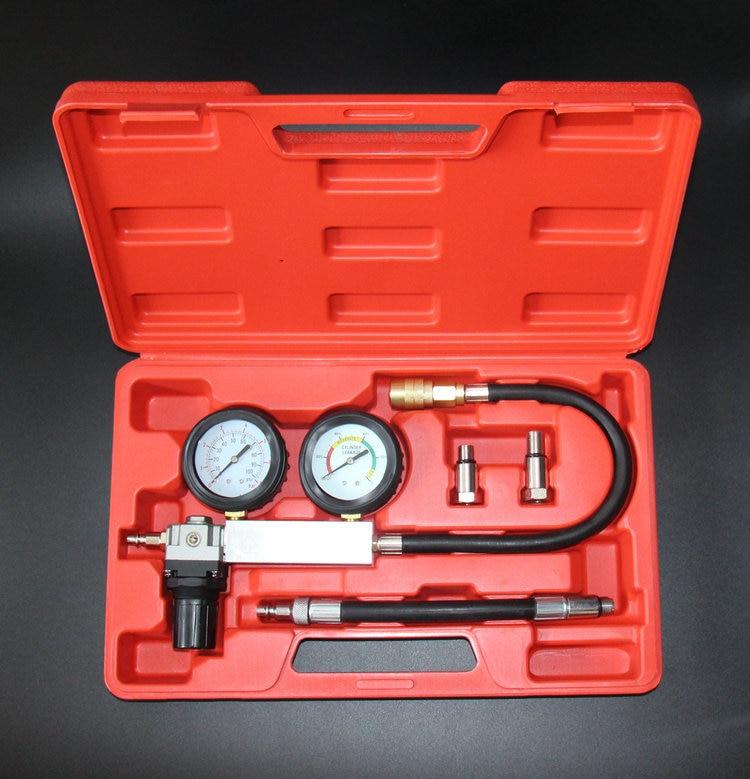 0-100PSI Double essence gaz moteur cylindre compresseur jauge mètre Test pression Compression testeur fuite outil de Diagnostic