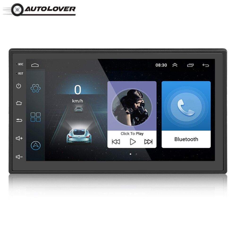 Autolover 2 DIN дюймов 8,0 дюймов Android 7,0 сенсорный экран автомобильный мультимедийный плеер Bluetooth WiFi gps навигатор fm-станция радио плеер