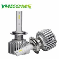 YHKOMS H7 LED Bulb Car LED Headlights H4 H8 H11 9005 HB3 9006 HB4 CSP 80W