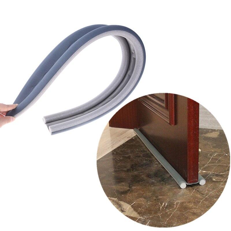 1PC 95CM Flexible Door Bottom Sealing Strip Guard Wind Sealer Stopper Fit For Door Thickness 3.5-5CM Bottom Seam 0.2-1.2CM