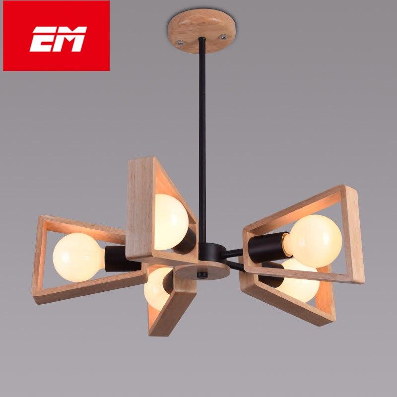Modern 3/5/8 kitchen lamp Head Wooden Dining Room Led Pendant Lamp Glass Wood Decocation Cafe Light Light Dining Light E27 bulb таис